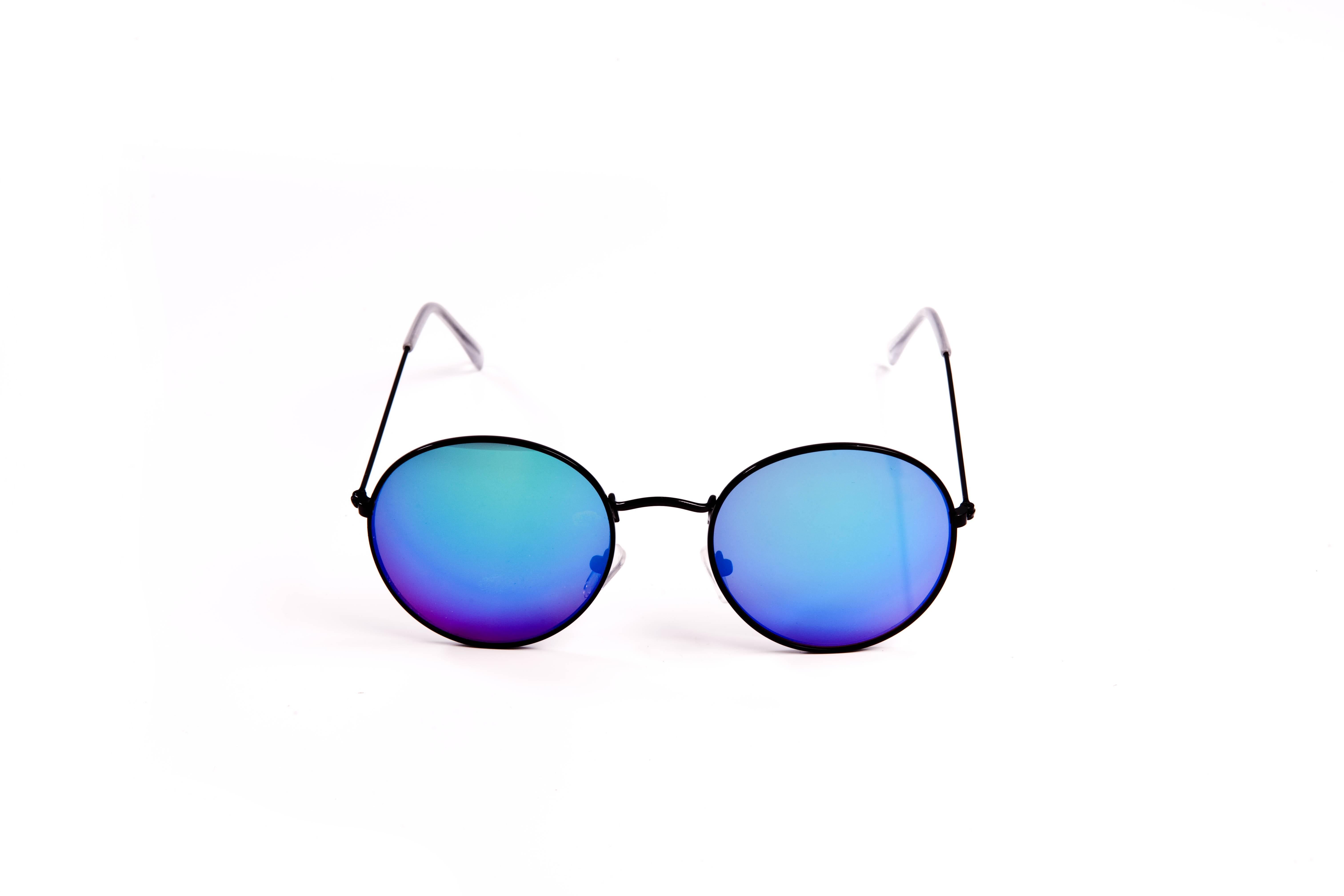 lunette de soleil homme femme accessoire ronde verres miroirs bleus tilt vintage. Black Bedroom Furniture Sets. Home Design Ideas