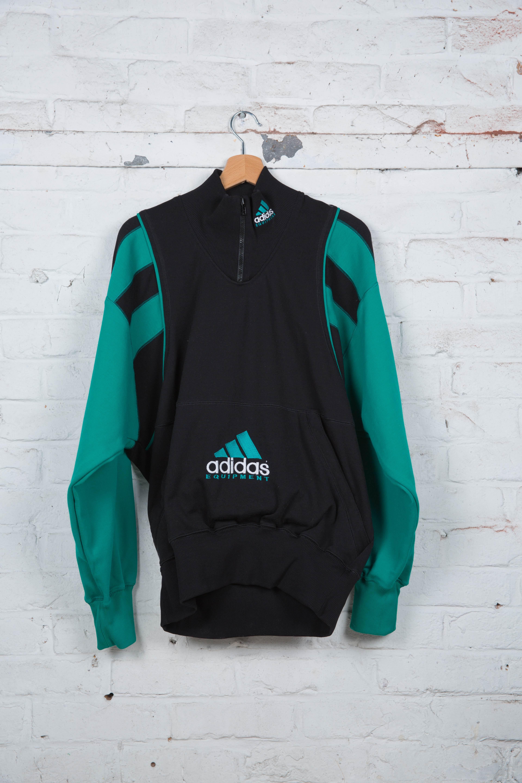 adidas Originals Sweat shirt Oversize Trefoil Homme Vert YFUDBVT