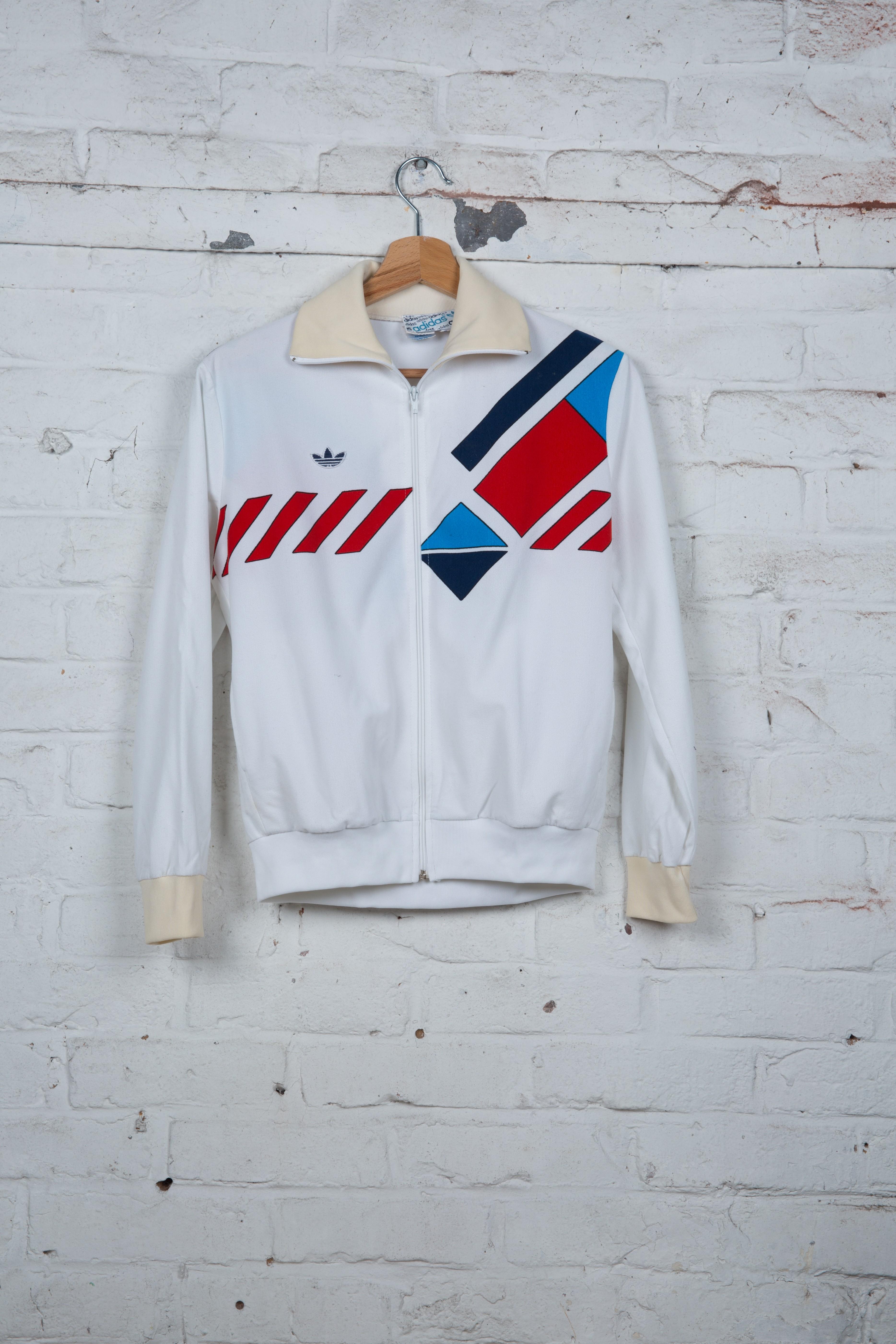 Veste de Jogging Adidas Vintage Blanc Rouge Bleu
