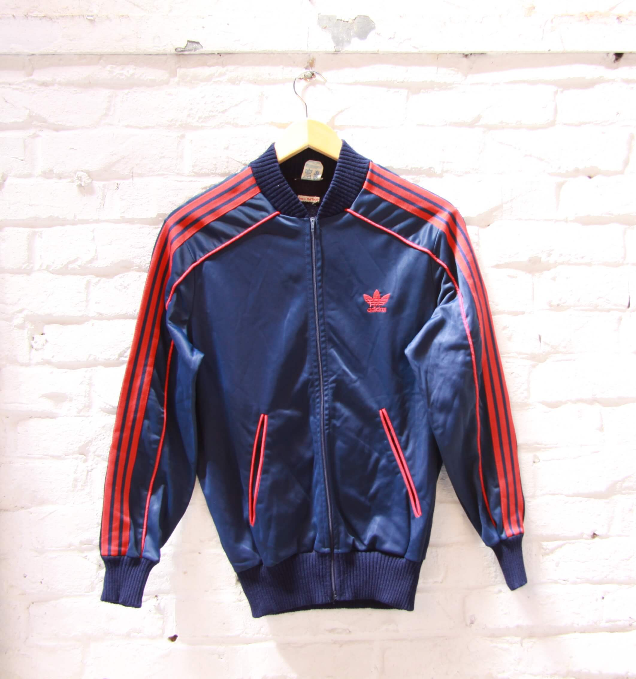 los angeles casual shoes new appearance Veste de Jogging - Adidas - Vintage - Bleu Marine - Rouge ...