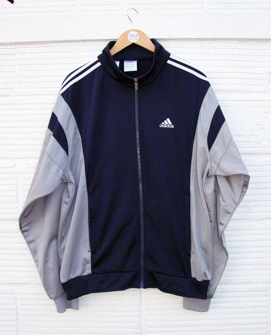 Veste de Jogging Adidas Vintage Bleu Marine