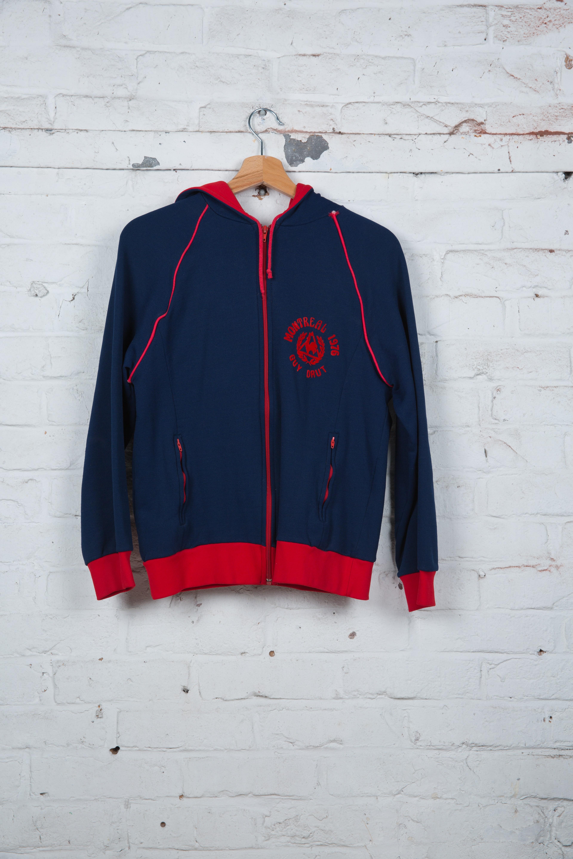 41e983edf443 Veste de Jogging - Le coq sportif - Vintage - Bleu Marine - Rouge ...