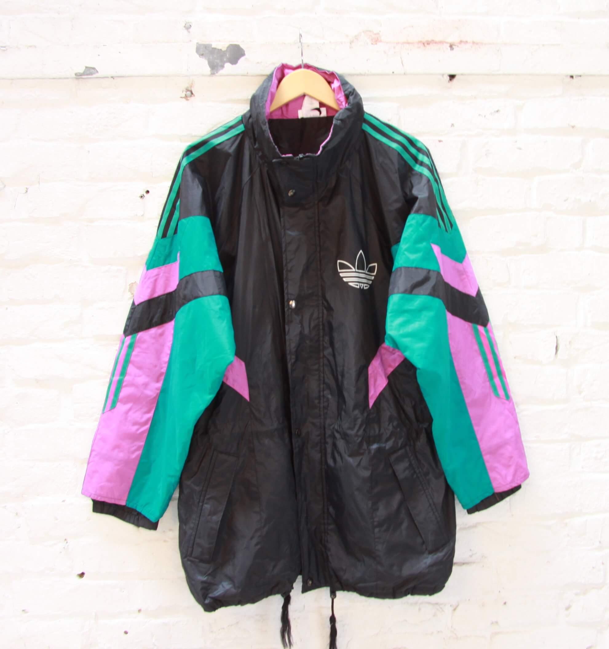 Veste longue Homme Adidas Vintage Marron Vert
