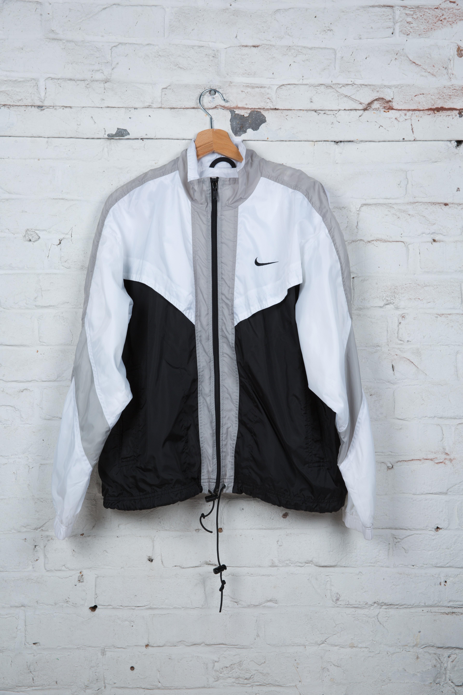 design de qualité 0b84c 3b6ea Veste de Jogging - Nike - 90's - Vintage - Blanc - Noir ...