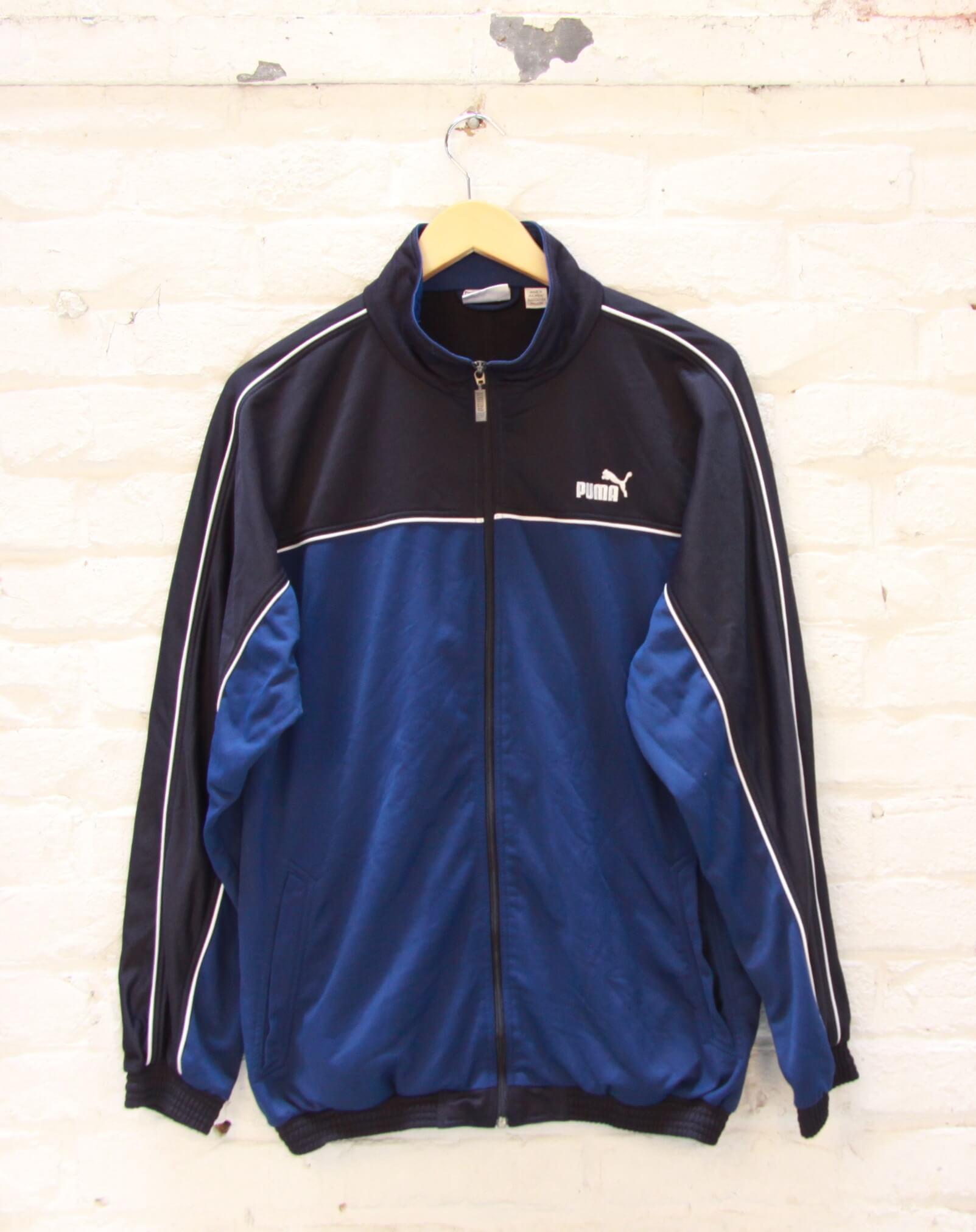 Veste de Jogging - Puma - Vintage - Bleu Marine - Noir - Tilt Vintage 2cfe2225145