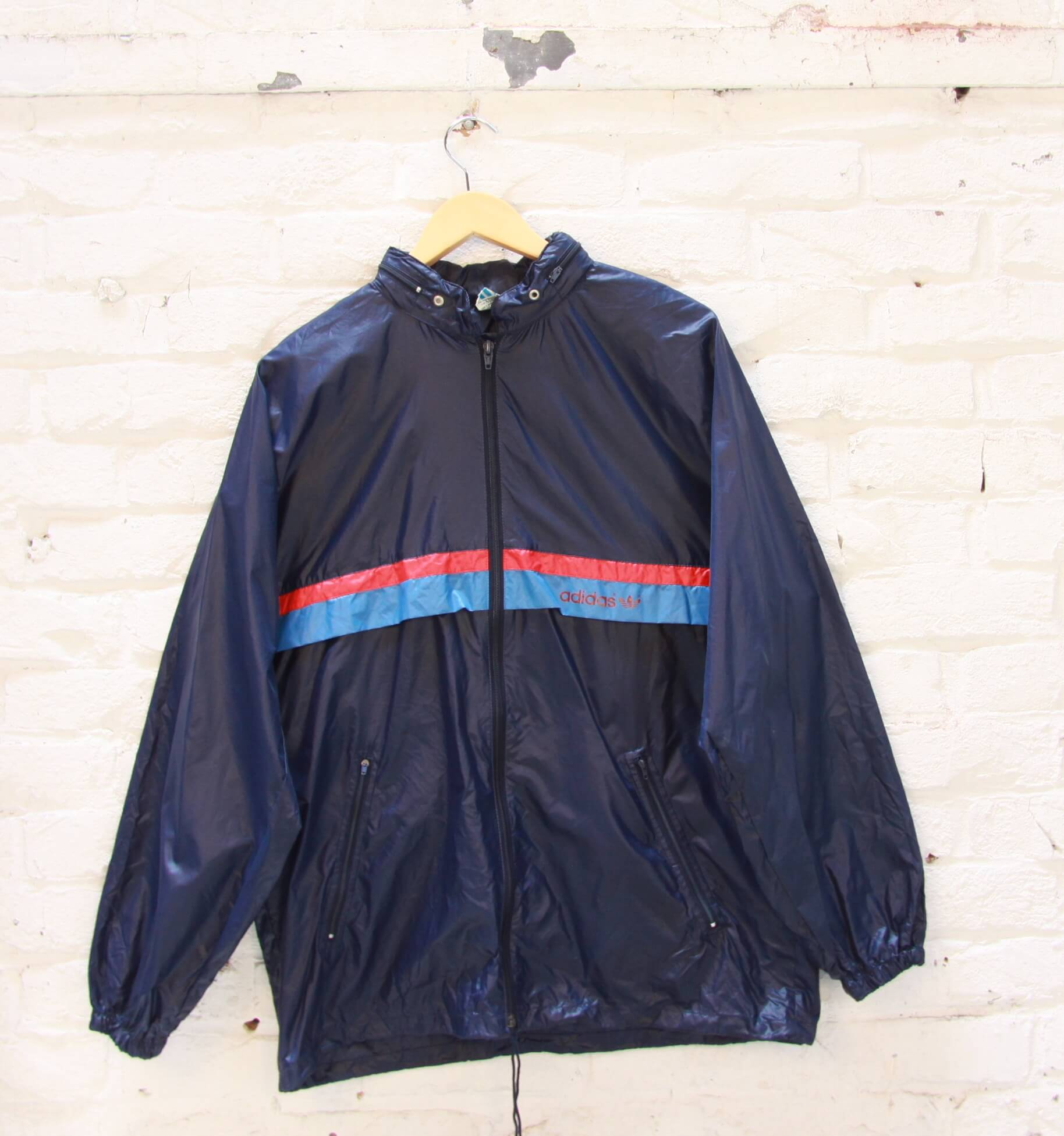 Veste Vintage Coupe Vent Adidas Bleu Tilt Vintage