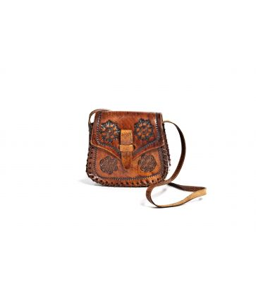 Sac hippie 70's Marron
