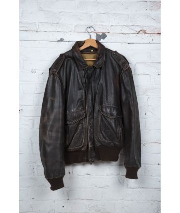 Flight Jacket Schott en Cuir Vintage