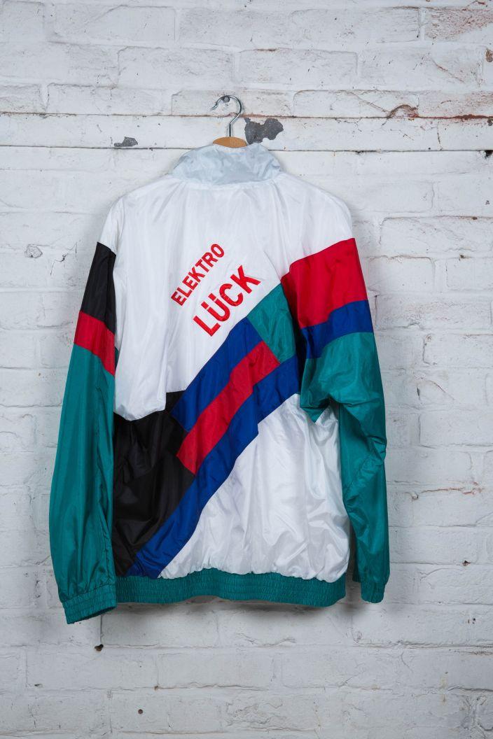 Veste de Jogging Adidas Vintage 90's Blanc Noir